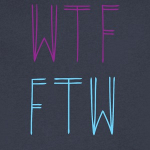 WTF FWT - Men's V-Neck T-Shirt by Canvas
