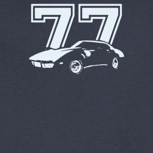 1977 CHEVROLET CORVETTE - Men's V-Neck T-Shirt by Canvas