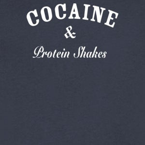Cocaine Protein Shakes - Men's V-Neck T-Shirt by Canvas