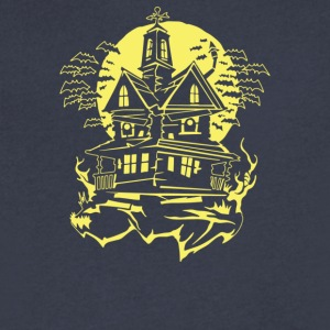 Haunted House - Men's V-Neck T-Shirt by Canvas