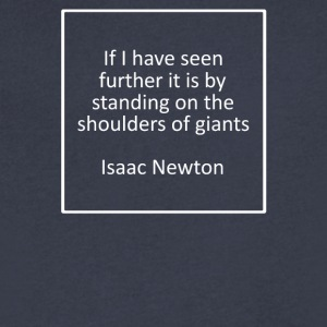 Isaac Newton - Men's V-Neck T-Shirt by Canvas