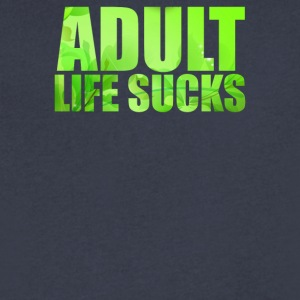 Adult Life Sucks - Men's V-Neck T-Shirt by Canvas