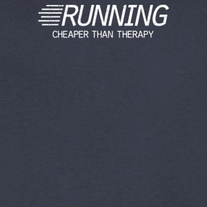 Running Cheaper Than Therapy - Men's V-Neck T-Shirt by Canvas