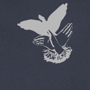 Shadowplay Bird Hands - Men's V-Neck T-Shirt by Canvas