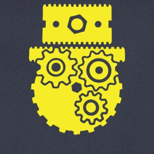 Steampunk Cog Face - Men's V-Neck T-Shirt by Canvas
