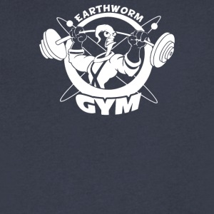 Earthworm Gym - Men's V-Neck T-Shirt by Canvas