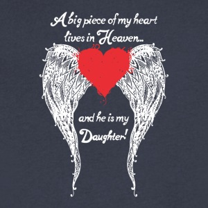 Daughter A Big Piece Of My Heart Shirt - Men's V-Neck T-Shirt by Canvas