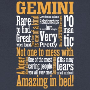 Gemini Amazing In Bed - Men's V-Neck T-Shirt by Canvas