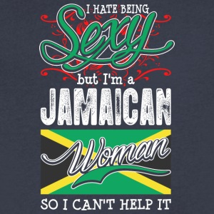 I Hate Being Sexy But Im A Jamaican Woman - Men's V-Neck T-Shirt by Canvas