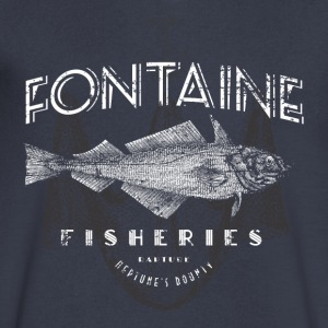 Fontaine Fisheries - Men's V-Neck T-Shirt by Canvas