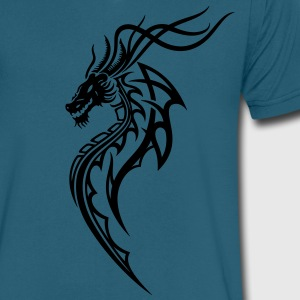 Fantasy dragon in tattoo and tribal style - Men's V-Neck T-Shirt by Canvas