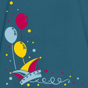 Carnival hat with balloons, streamer and confetti. - Men's V-Neck T-Shirt by Canvas