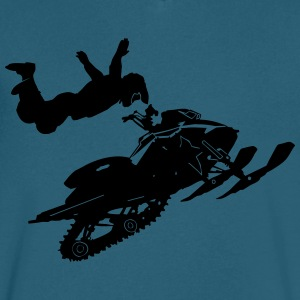 Snowmobil - Men's V-Neck T-Shirt by Canvas