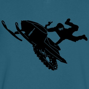Snowmobil Jump - Men's V-Neck T-Shirt by Canvas
