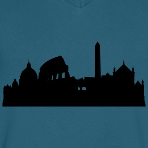 Rome silhouette2 - Men's V-Neck T-Shirt by Canvas