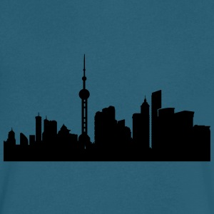 Shanghai silhouette - Men's V-Neck T-Shirt by Canvas