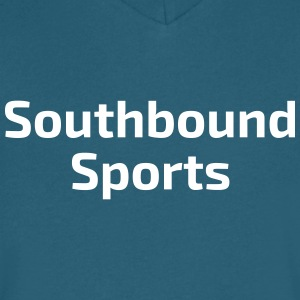 The Southbound Sports Title - Men's V-Neck T-Shirt by Canvas