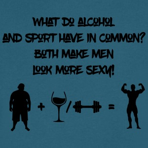 Alcohol and sport make men look more sexy - Men's V-Neck T-Shirt by Canvas