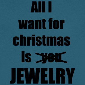 All I want for christmas is you jewelry - Men's V-Neck T-Shirt by Canvas