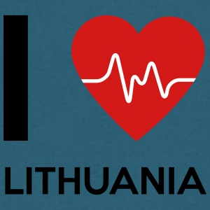 I Love Lithuania - Men's V-Neck T-Shirt by Canvas