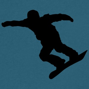 snow boarder silhouette 13 - Men's V-Neck T-Shirt by Canvas