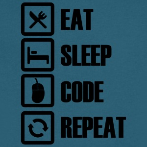 Eat sleep code repeat - Men's V-Neck T-Shirt by Canvas