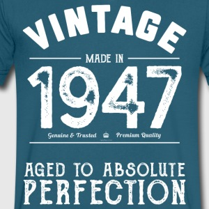Funny 70th Birthday Gift: Vintage Made in 1947 - Men's V-Neck T-Shirt by Canvas