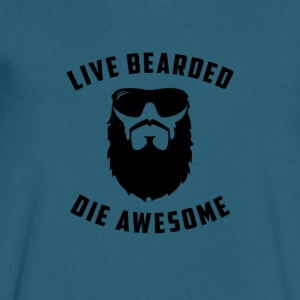 Live Bearded - Men's V-Neck T-Shirt by Canvas