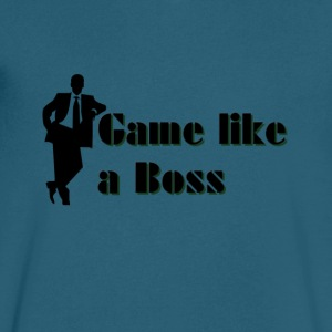 Game like a Boss - Men's V-Neck T-Shirt by Canvas