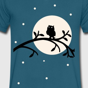 Dark Owl - Men's V-Neck T-Shirt by Canvas