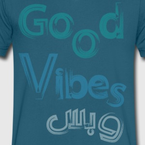 good vibes - Men's V-Neck T-Shirt by Canvas