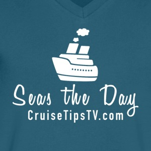 Seas the Day Cruise T-shirt - Men's V-Neck T-Shirt by Canvas