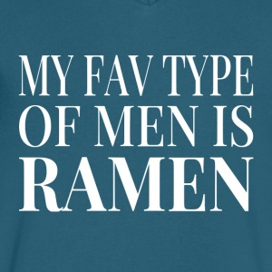 My Fav Type Of Men Is Ramen - Men's V-Neck T-Shirt by Canvas