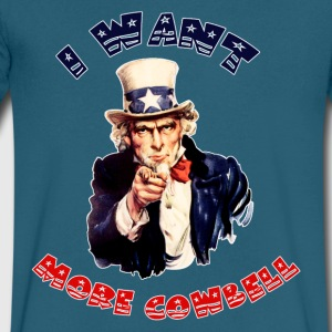 Uncle Sam Wants More Cowbell - Men's V-Neck T-Shirt by Canvas