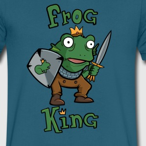 Frog King - Men's V-Neck T-Shirt by Canvas