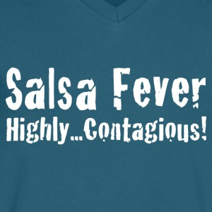 Salsa Fever Highly Contagious! - Men's V-Neck T-Shirt by Canvas