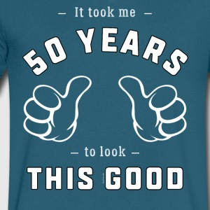 Funny 50th Birthday Gift: It took me 50 years - Men's V-Neck T-Shirt by Canvas