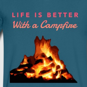 Life is better with a campfire - Men's V-Neck T-Shirt by Canvas
