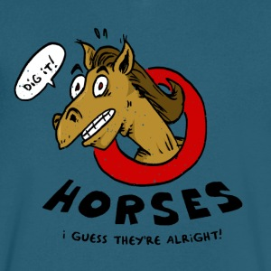 Horses Are Alright, I Guess - Men's V-Neck T-Shirt by Canvas