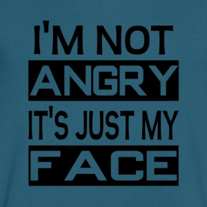 I'm Not Angry It's Just My Face - Men's V-Neck T-Shirt by Canvas