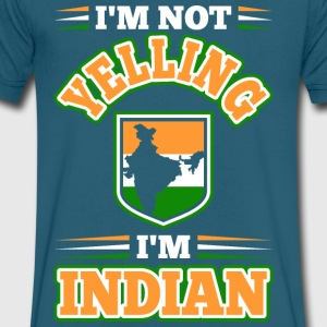Im Not Yelling Im Indian - Men's V-Neck T-Shirt by Canvas