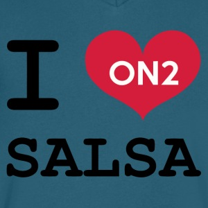 I Love Salsa On 2 - Men's V-Neck T-Shirt by Canvas