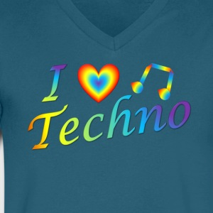 I LOVETECHNO MUSIC - Men's V-Neck T-Shirt by Canvas