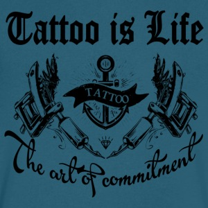 Tattoo is life - Men's V-Neck T-Shirt by Canvas