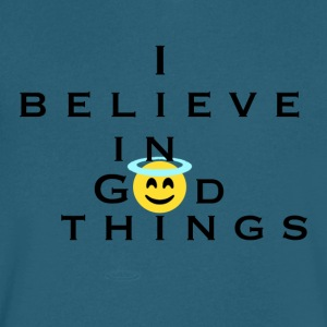 I Believe In God Things Smiley Face - Men's V-Neck T-Shirt by Canvas