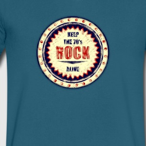 Keep The Rock - Men's V-Neck T-Shirt by Canvas