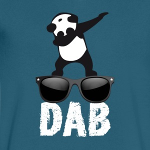 dab panda glaces dabbing football touchdown dance - Men's V-Neck T-Shirt by Canvas