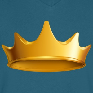King Golden Royal crown VIP - Men's V-Neck T-Shirt by Canvas