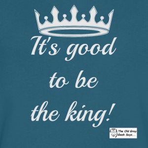 It's Good To Be The King! (light design) - Men's V-Neck T-Shirt by Canvas