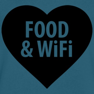 Food and WiFi - Men's V-Neck T-Shirt by Canvas